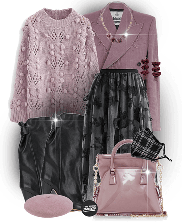 new year, new personal style: mauve and black