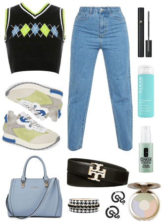 Blue and Green preppy