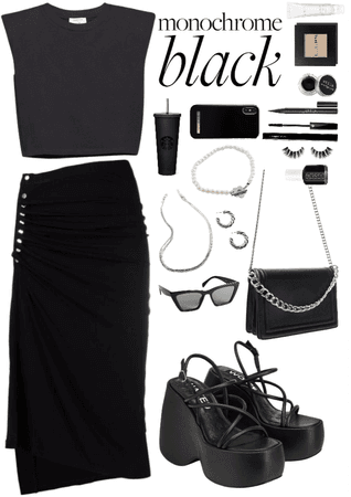 monochrome black