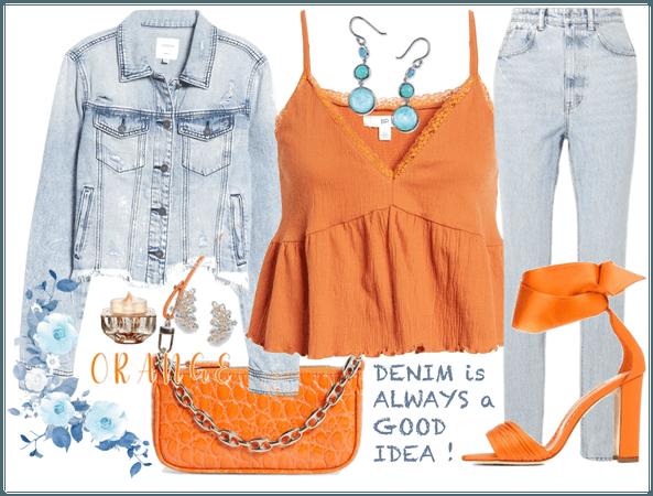 Orange & Denim