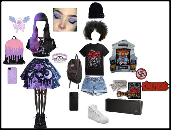 Pastel Goth and Metalhead friends