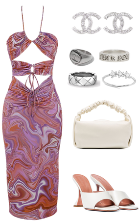 cut out colourful dress