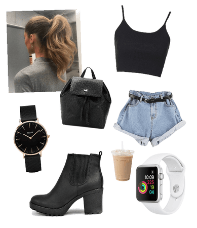 Late to school look