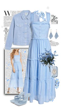 Sky Blue Spring Dress