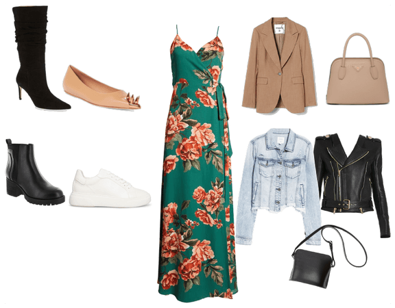 Dress with jackets
