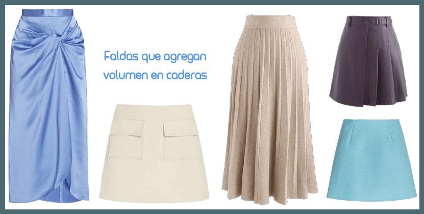 Faldas que agregan volumen