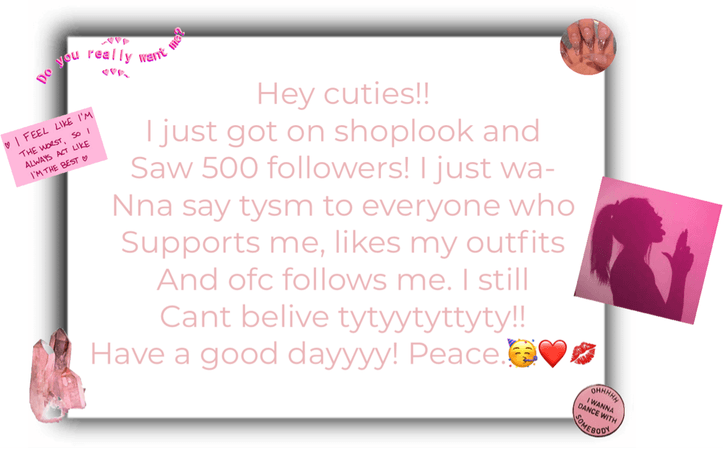 TYSM FOR 500 FOLLOWERS!! LOVE YALL