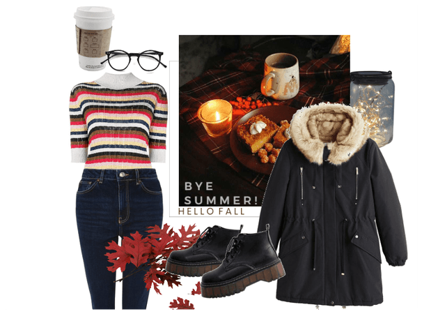 cozy fall outfit ; bye summer!