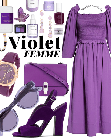 purple | simple summer dress