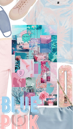 Light Blue and Pink Aesthetic