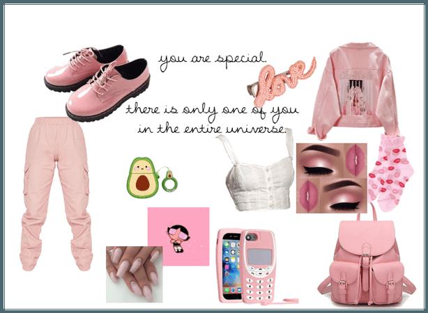 pink soft girl