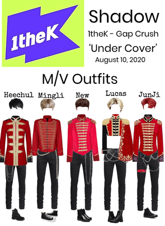 Shadow 'Under Cover' 1theK - Gap Crush MV Outfits