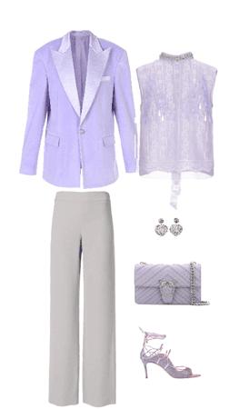 Outfit blazer lila