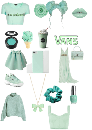 if your fave color is mint green this is your outfit