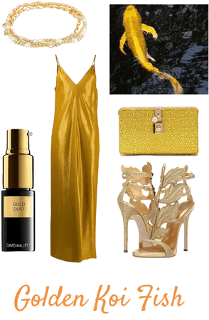 Golden Koi Fish Inspired Outfit