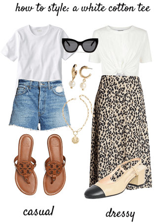 How to Style: a White Cotton Tee
