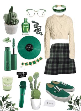 green nature girl