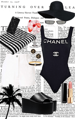 Chanel pool or beach outfit