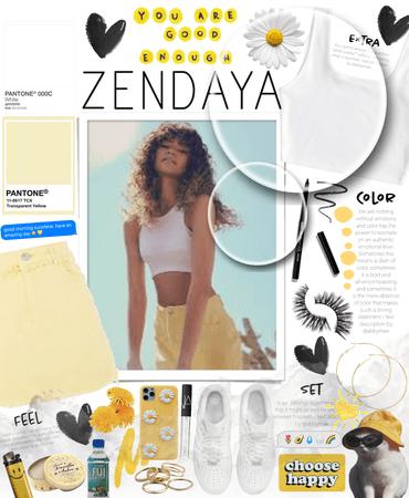 Zendaya yellow and white outfit 💛🤍💛🤍