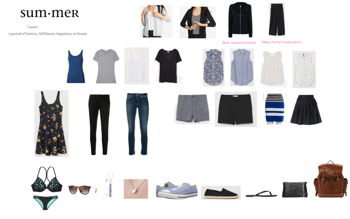 Paris/Croatia Summer Travel Capsule