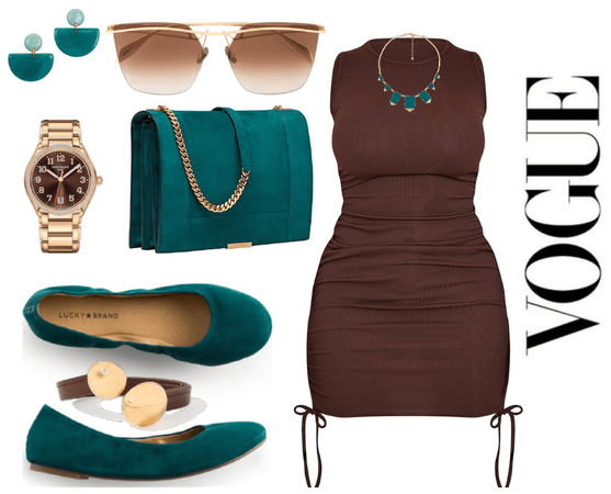 teal and chocolate