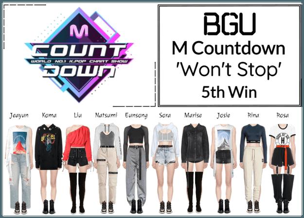 BGU M Countdown 'Won't Stop'