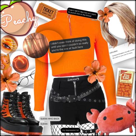 Orange & Black E-girl? Fit for Imogen 😪💞🐼💞