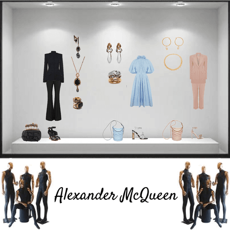 Alexander McQueen shop window brand look idea by g.o. 2021