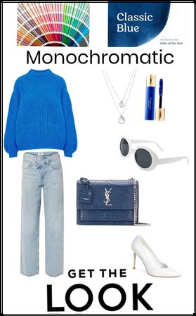 Monochromatic look.