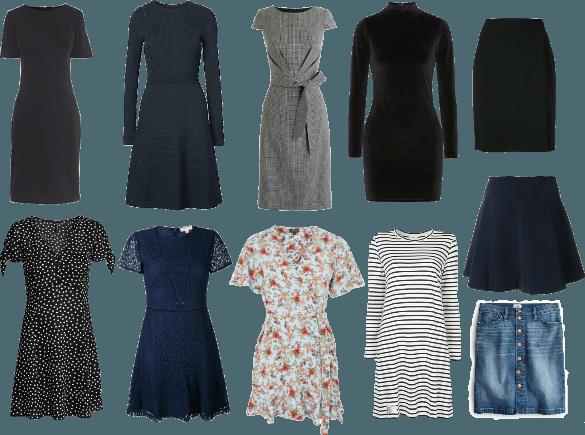 Capsule Wardrobe Dresses and Skirts