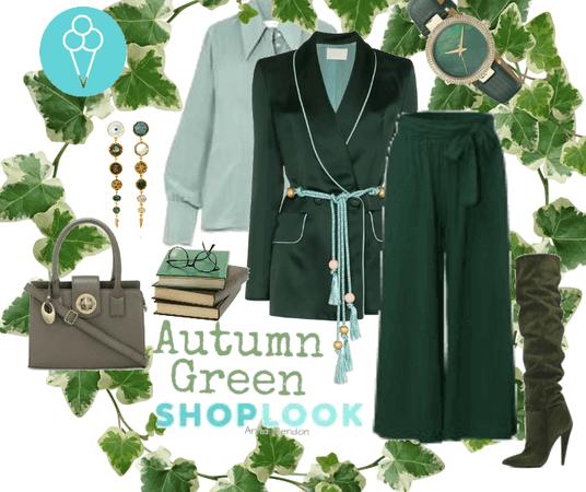 # Autumn Green # shoplook #  back to school