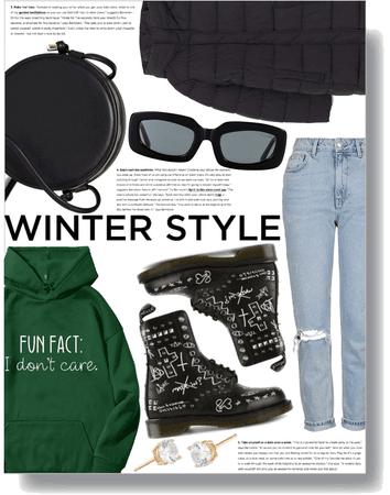 winter casual 🖤