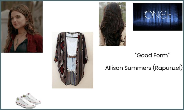 Allison Summers/Rapunzel: OUAT: Good Form (S3E05)