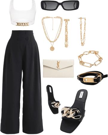 simple black & gold