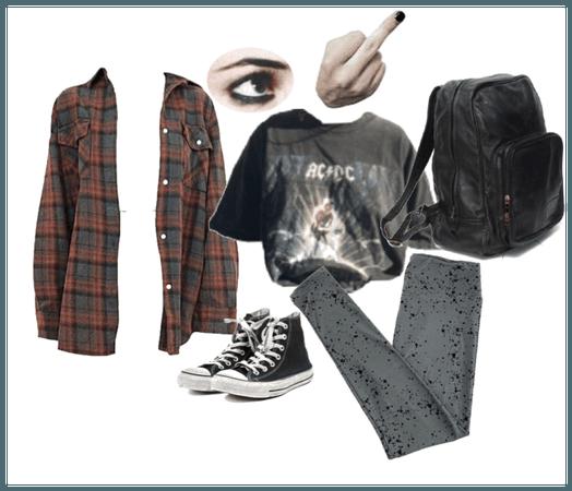 Grunge girl School
