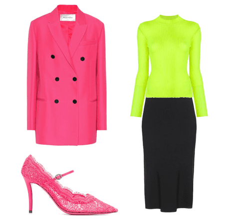 Neon Work Outfit
