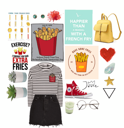 cute French fry day outfit