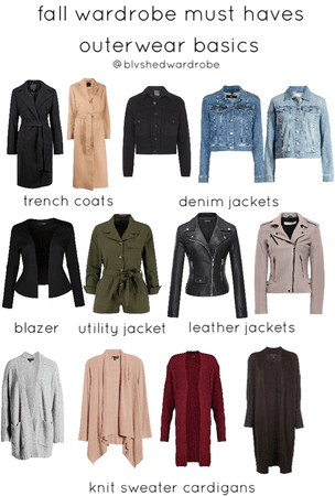 fall 2019 must haves outerwear basics