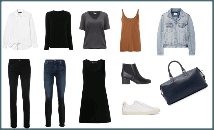 10 Piece Travel Wardrobe