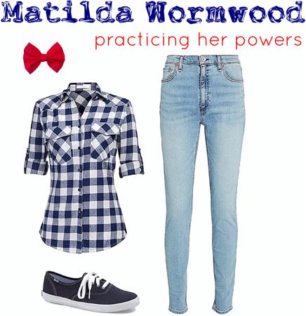 Matilda Wormwood: practicing her powers