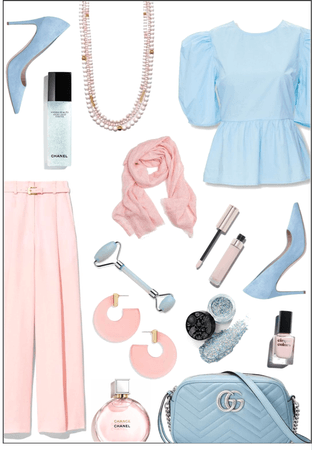Baby Blue & Pastel Pink