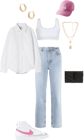 Outfit top & camisa blanca