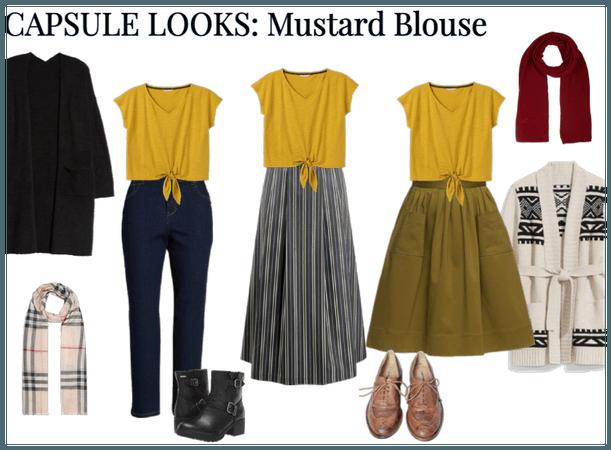 Capsule Looks: Mustard Blouse