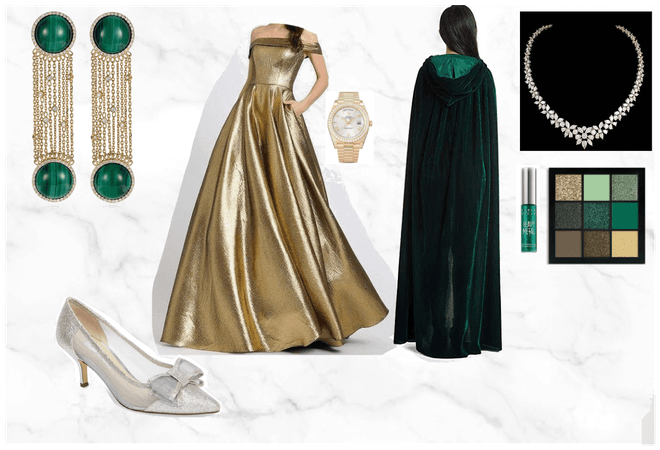 Green, gold and diamond