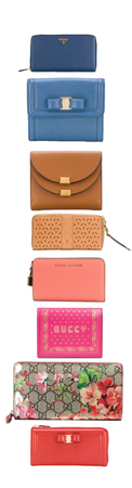 Spring woman purses and wallets