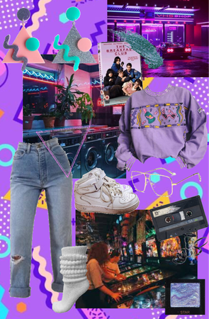 80s arcade aesthetic fit