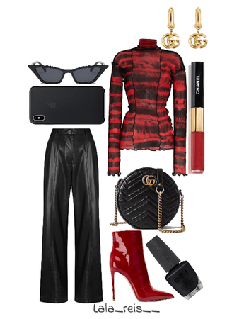 Red & Black Stylish Outfit