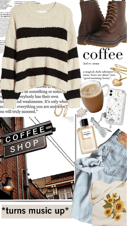 Tan Winter Cozy Coffee outing