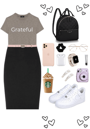 modest casual grateful tee outfit