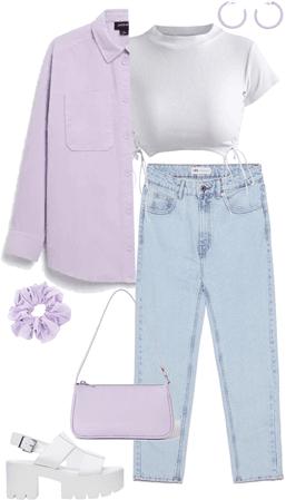 lilac & white